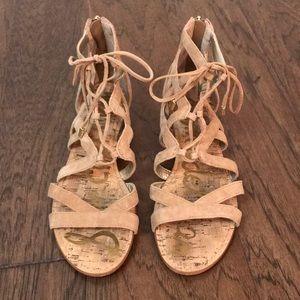 Sam Edelman tan gladiator sandals